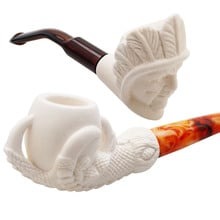 Royal Hand Carved Pressed Meerschaum Pipes