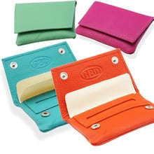 GBD Mini Coloured Hand Rolling Leather Tobacco Pouches
