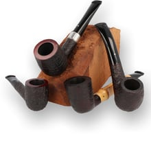 Alfred Dunhill White Spot Shell Briar Pipes