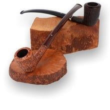 Alfred Dunhill White Spot Churchwarden Briar Pipes