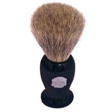Black badger hair fur shaving brush 660p