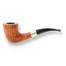 ***DISCONTINUED*** Northern Briars Banded Horn G3 Hand Carved Briar Pipe NB-111