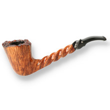 Northern Briars Curved Helix Smooth G3 Hand Carved Briar Pipe NB-119