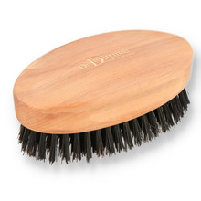 Dr Dittmar Military Style Pearwood Natural Bristled Hair & Beard Brush