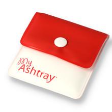 **DISCONTINUED** My Ashtray, Pocket Ashtray Red & White (Not Stubbi)