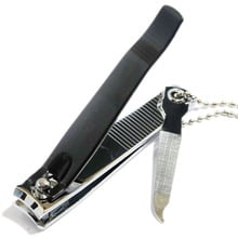 Large Black and Chrome Solingen Nail Clippers