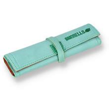 **DISCONTINUED** Ilmorello PTG Handmade Italian Tobacco Pouch Blue Leather & Orange 402
