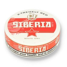 Siberia -80ºc Xtremely Red White Dry Tobacco Chew Bags (42mg)