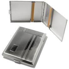 1474-107 Superkings Striped German Made Cigarette Case