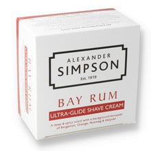 Alexander Simpsons Ultra-Glide Shaving Cream 180ml Bay Rum