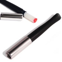 ***DISCONTINUED*** Denicotea Black & Chrome Ejector Cigarette Holder with crystal filters (20215)
