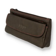 Zippo Soft Leather Combi Pipe and Tobacco Pouch Brown Leather 2005426