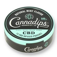 Cannadips natural mint cbd chew bags 1
