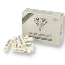 White Elephant Natural Meerschaum 9mm Pipe Filters 40's