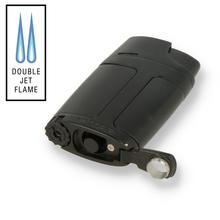 Xikar ELX Windproof Double Torch Flame Lighter 550BK2 Black