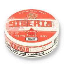 Siberia -80ºc Xtremely Red White Dry TIGHT Tobacco Chew Bags (43mg)