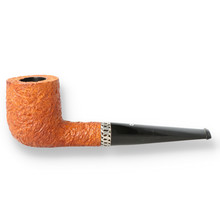 **SOLD** Northern Briars Banded Billiard G4 Hand Carved Briar Pipe 9mm NB-120