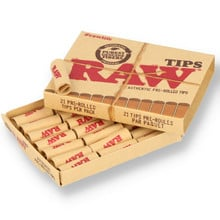 Raw PRE-ROLLED Natural Unbleached Roach Material / Filter Tips