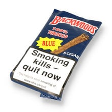 Backwoods Blue (Formerly Vanilla) All Natural Tobacco (Pack of 5 Cigars)
