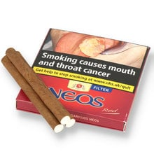 Neos red cardboard boxew 1