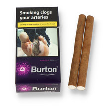 Burton Purple Crushball (Blueberry Menthol) Filtered Cigarillo (Pack of 10)