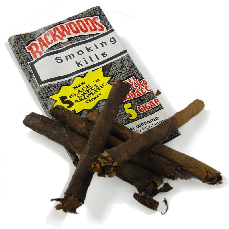 DISCONTINUED** Backwoods Black 'n Sweet Aromatic All Natural Tobacco (Pack  of 5 Cigars)