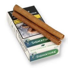 Signature Action (Formerly Dual) Leaf Wrapped Menthol Filtered Cigarillos (Pack of 10)