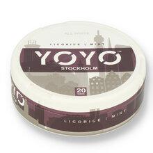 YoYo Stockholm (Liquorice and Mint) Tobacco Free Nicotine Chew Bags 12mg