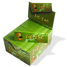 Zig Zag Green King Size Cigarette Papers Bulk Buy (Full Box 50 Packs)