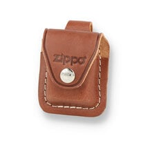 Zippo Brown Leather Zippo Lighter Pouch with Belt Loop