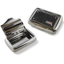 Jenter Black Mesh Hinged Tobacco tin with Paper Holder 1oz/25g (793)