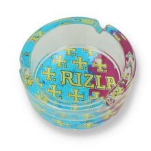 Rizla Glass Ashtray Multi Cross