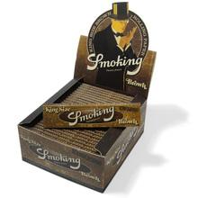 Smoking BROWN Pure Un Bleached King Size Bulk Buy (Full Box 50 Packs)