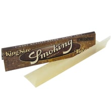 Smoking BROWN Pure Vegan Un Bleached King Size Cigarette Papers