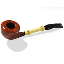 **DISCONTINUED** Stanwell Bamboo Half Bent Polished Briar Smoking Pipe