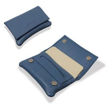 **DISCONTINUED** Artamis PO29B Blue stained Leather Wallet Hand Rolling Tobacco Pouch