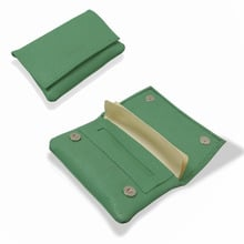 **DISCONTINUED** Artamis PO29G Green stained Leather Wallet Hand Rolling Tobacco Pouch