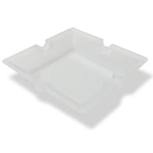 Glass Cigarette Ashtray Clear Frosted