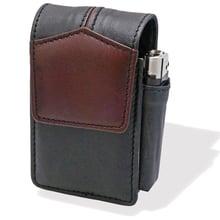 CP6091 Black & Brown Leather SK & KS Cigarette Packet Holder