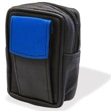 CP6093 Black & Blue Leather KS Cigarette Packet Case