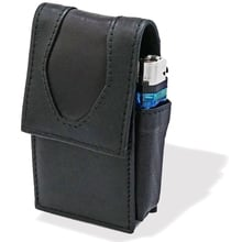 Cp6106 1 magnetic black leather cigarette case pouch purse lighter holder