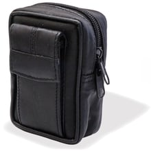CP6092 Black Leather KS Cigarette Packet Case with Lighter compartment
