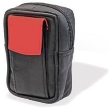 CP6098 Black & Red Leather King Size Cigarette Packet Case