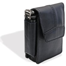 Cp6095 black thick leather magnetic leather cigarette case pouch purse lighter holder