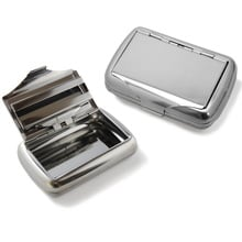 Tobacco tin high polish chrome paper dispenser 25g 1oz
