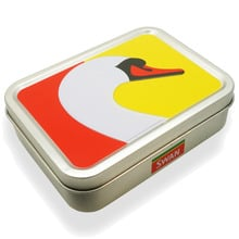 **DISCONTINUED** Swan Embossed Tobacco Storage Tin Container 1oz/25g