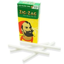 ***DELISTED*** Zig Zag Extra Slim Box of 5.5mm Cellophane Wrapped Rod Filter Tips