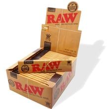 Raw classic natural unrefined authentic purest natural fibre unbleached brown cigarette paper king size ks full box 50 papers