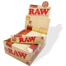 Raw organic natural unrefined authentic purest natural fibre unbleached brown cigarette paper ks king size full box 50 papers
