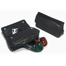 Peterson 137 Black Leather Combination Pipe Tobacco Pouch